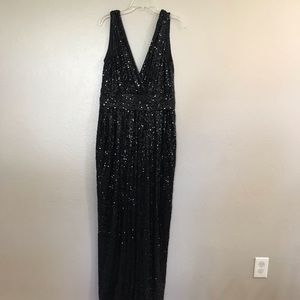 Badgley Mischka Black Sequin Formal Dress
